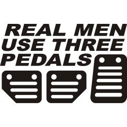 Real men use three pedals V3