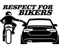 Respect for bikers - Audi A4 - Stickere personalizate