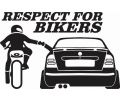 Respect for bikers - Octavia - Stickere personalizate