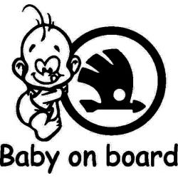 Sticker auto - Baby on board Skoda